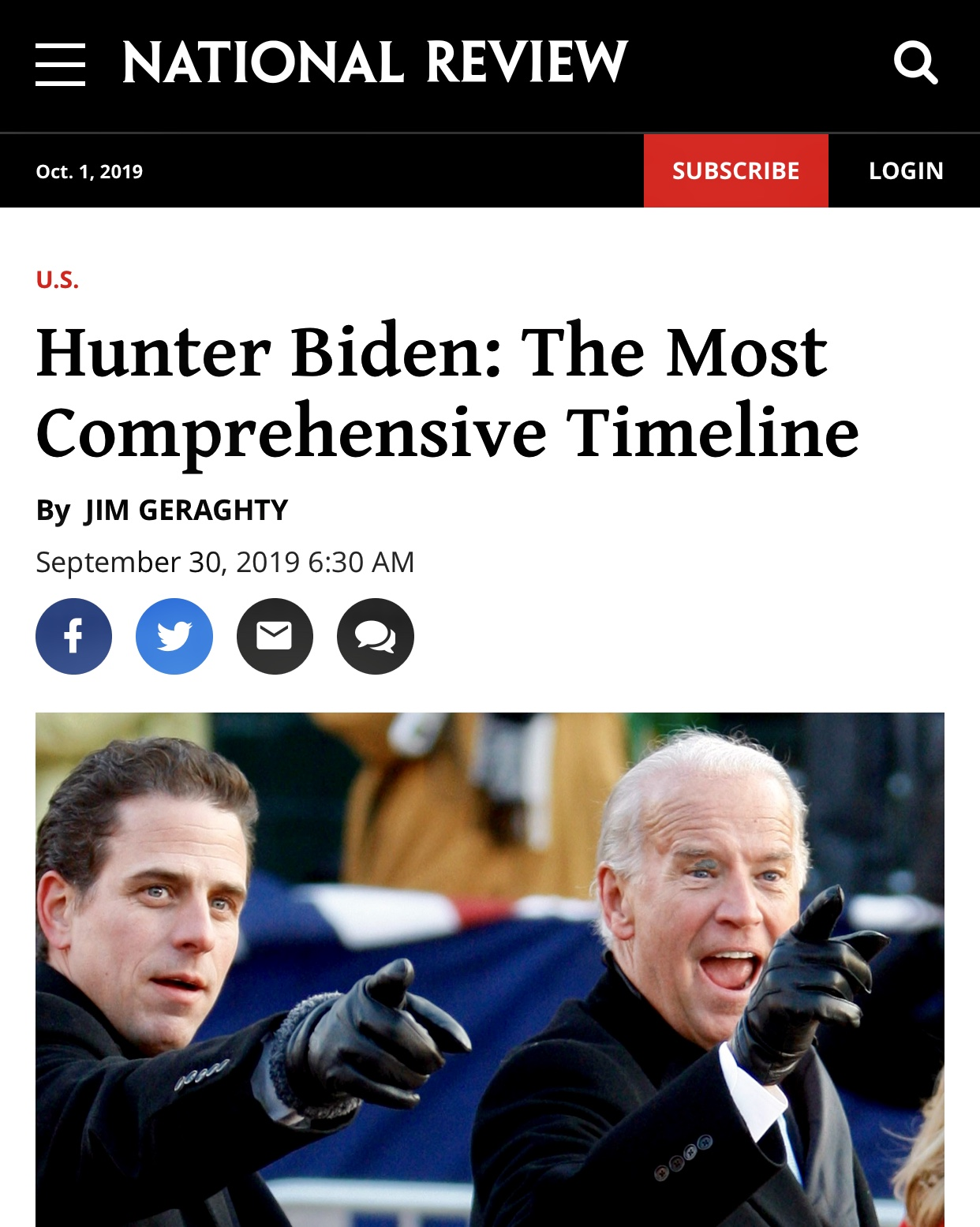Hunter Biden: The Most Comprehensive Timeline