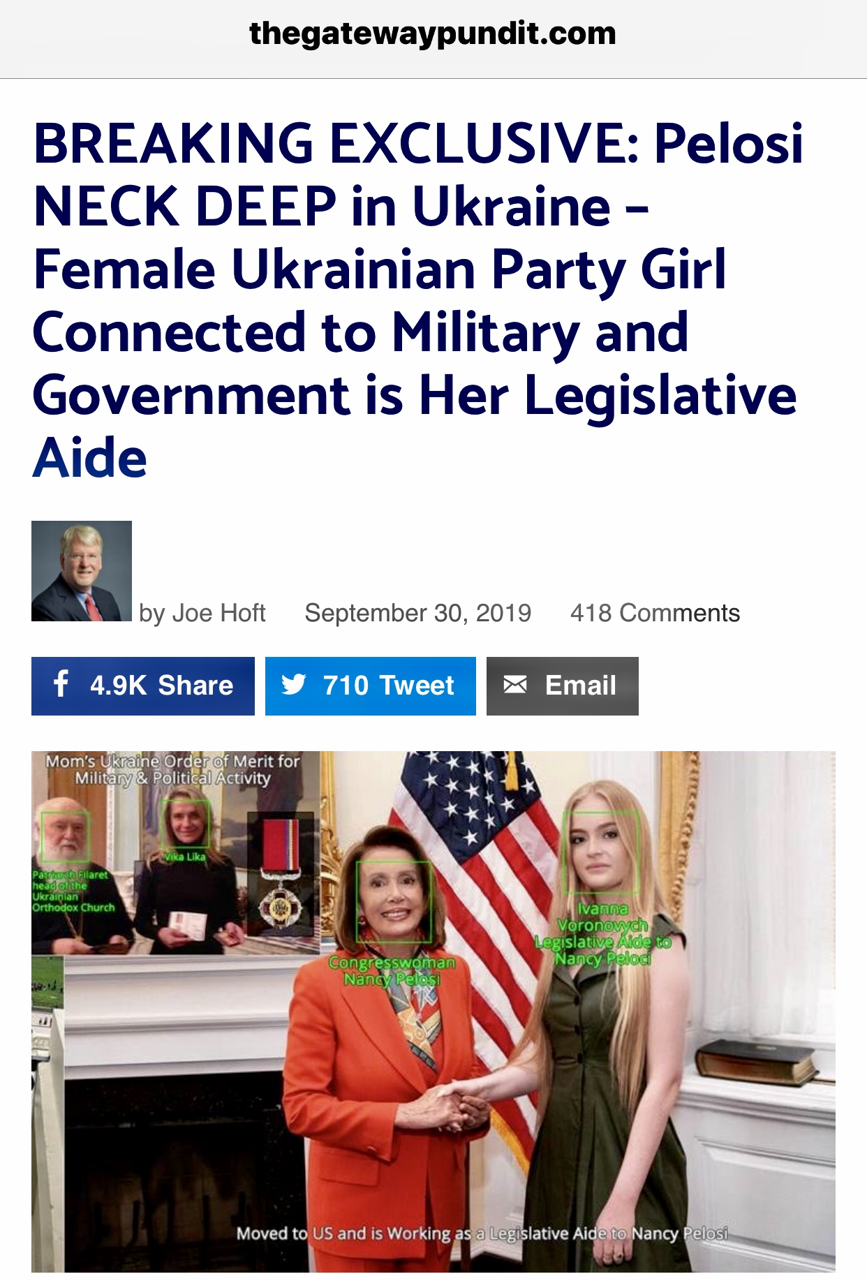 Pelosi's Female Ukrainian Aide Connected to Ukrainian Military & Govt