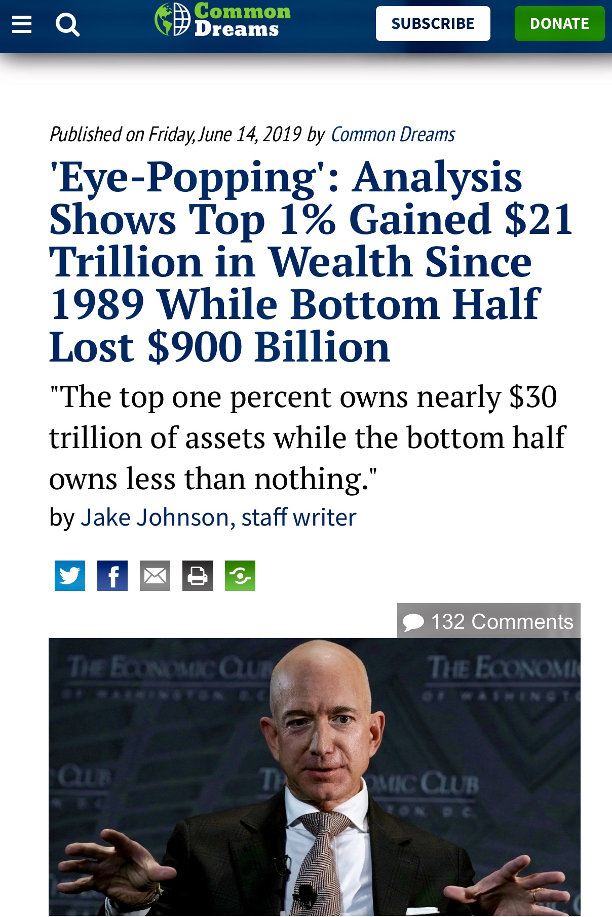The Top 1% Owns Nearly $30 Trillion of Assets While The Bottom Owns Close To Nothing