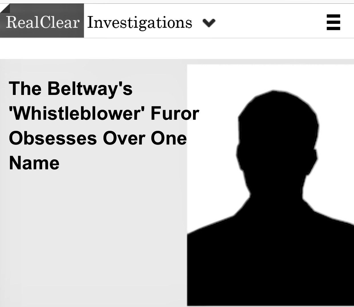 The Beltway's 'Whistleblower' Furor Obsesses Over One Name