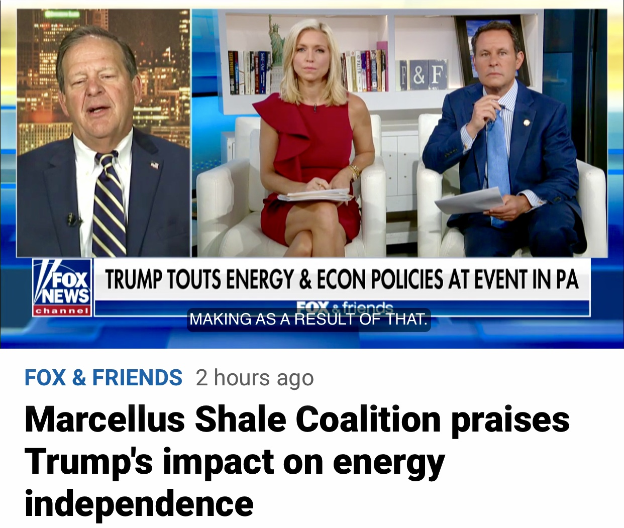 Video: Marcellus Shale Coalition Praises President Trump on Energy Independence