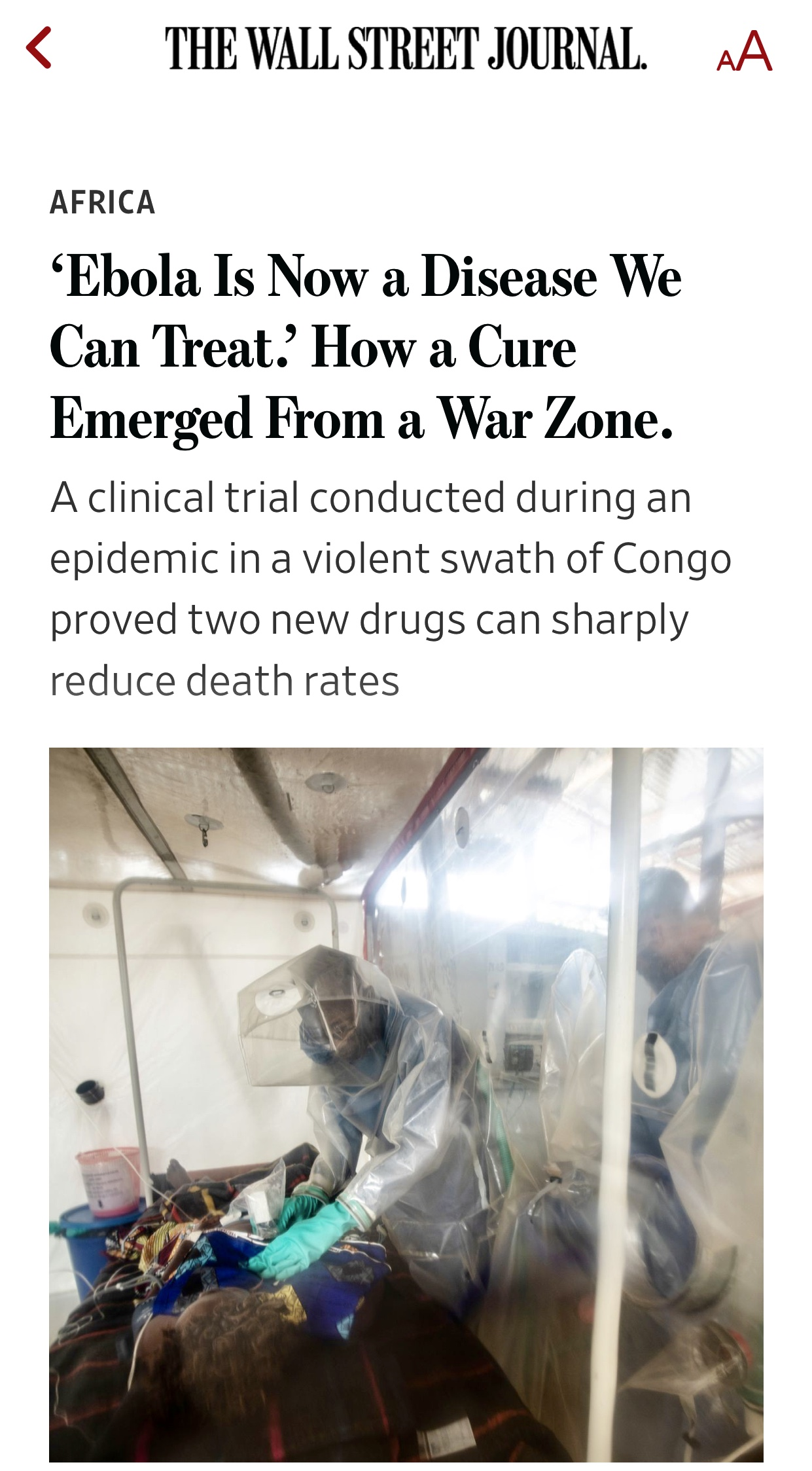 Ebola Is Now A Disease They Can Treat