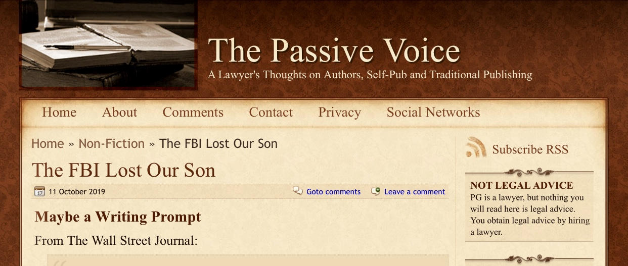 The FBI Lost Our Son