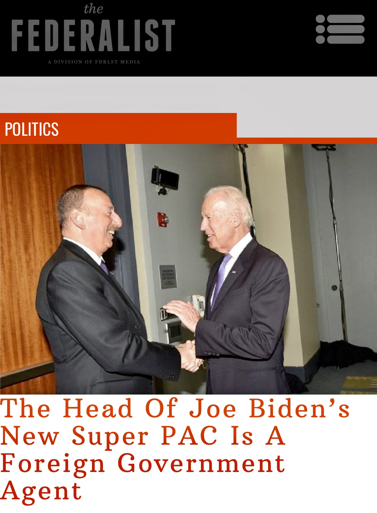 Biden's New Super PAC Is Run By A Foreign Govt Agent