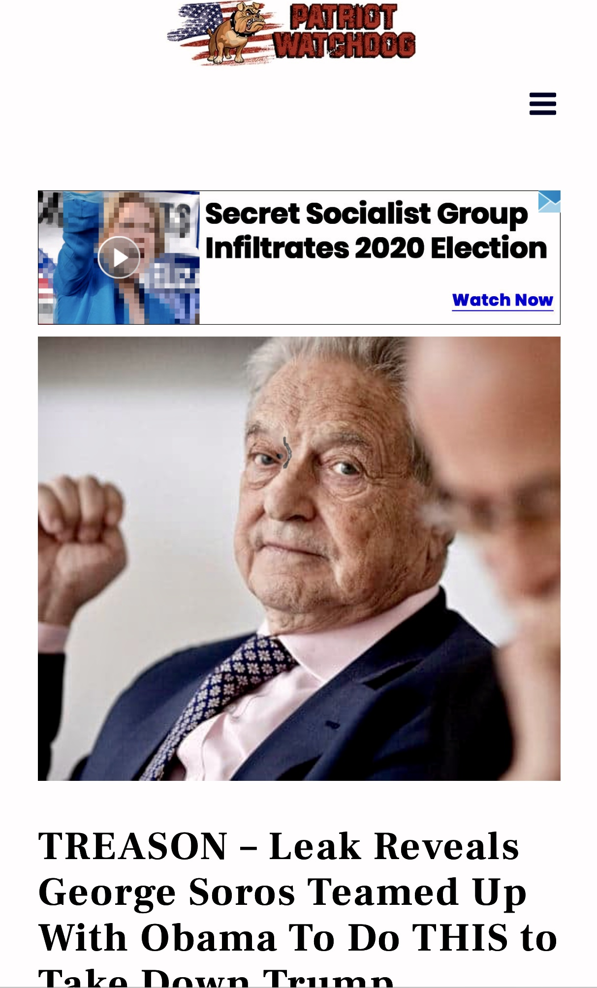 TREASON – Leak Reveals Soros Teamed Up With Obama To Take Down Trump