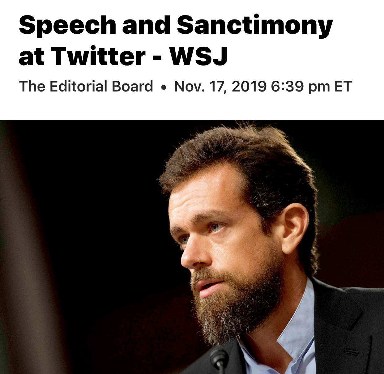 Speech and Sanctimony at Twitter – WSJ