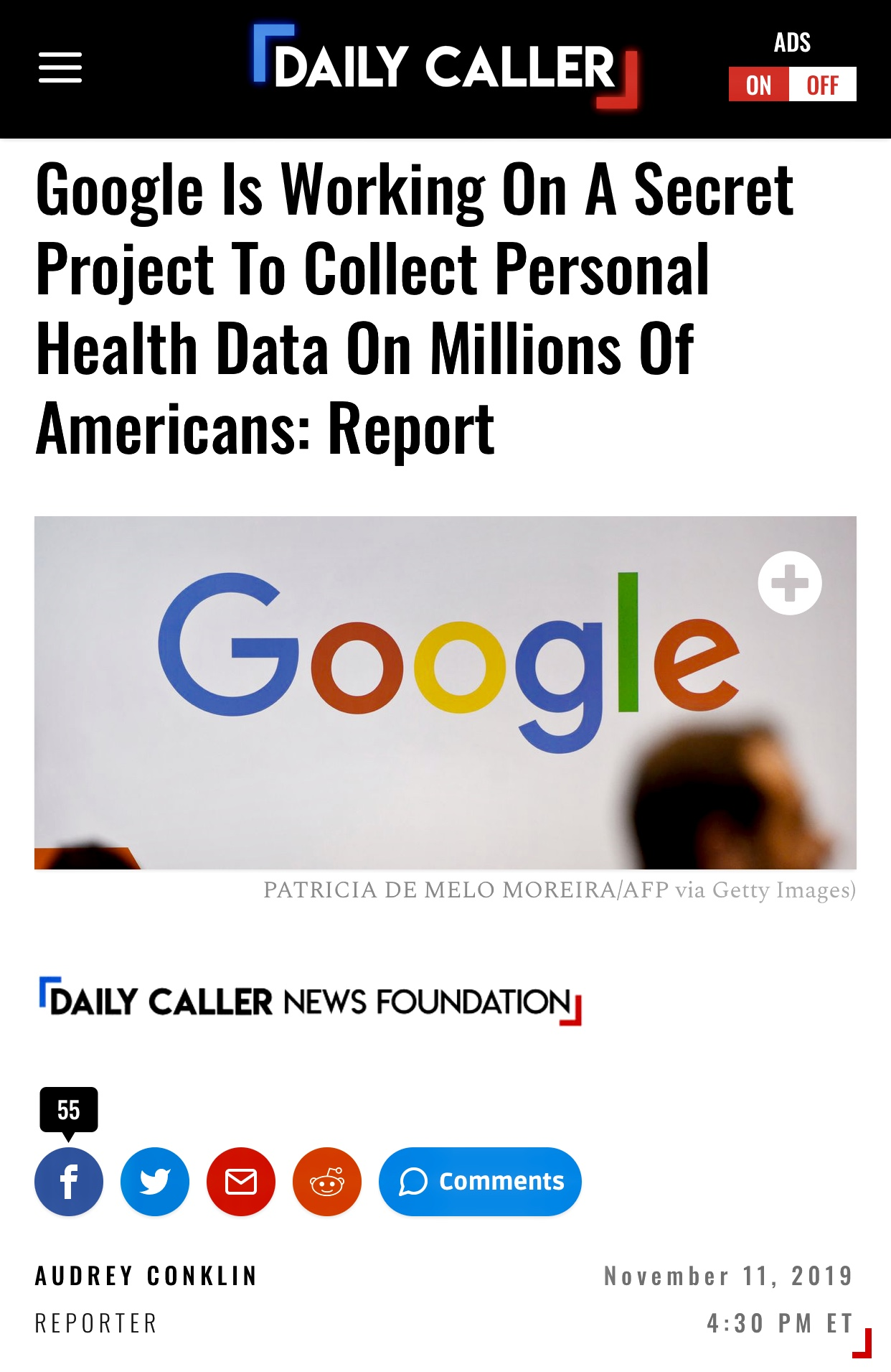 Google Working On A Secret Project To Collect Personal Health Data On Millions Of Americans