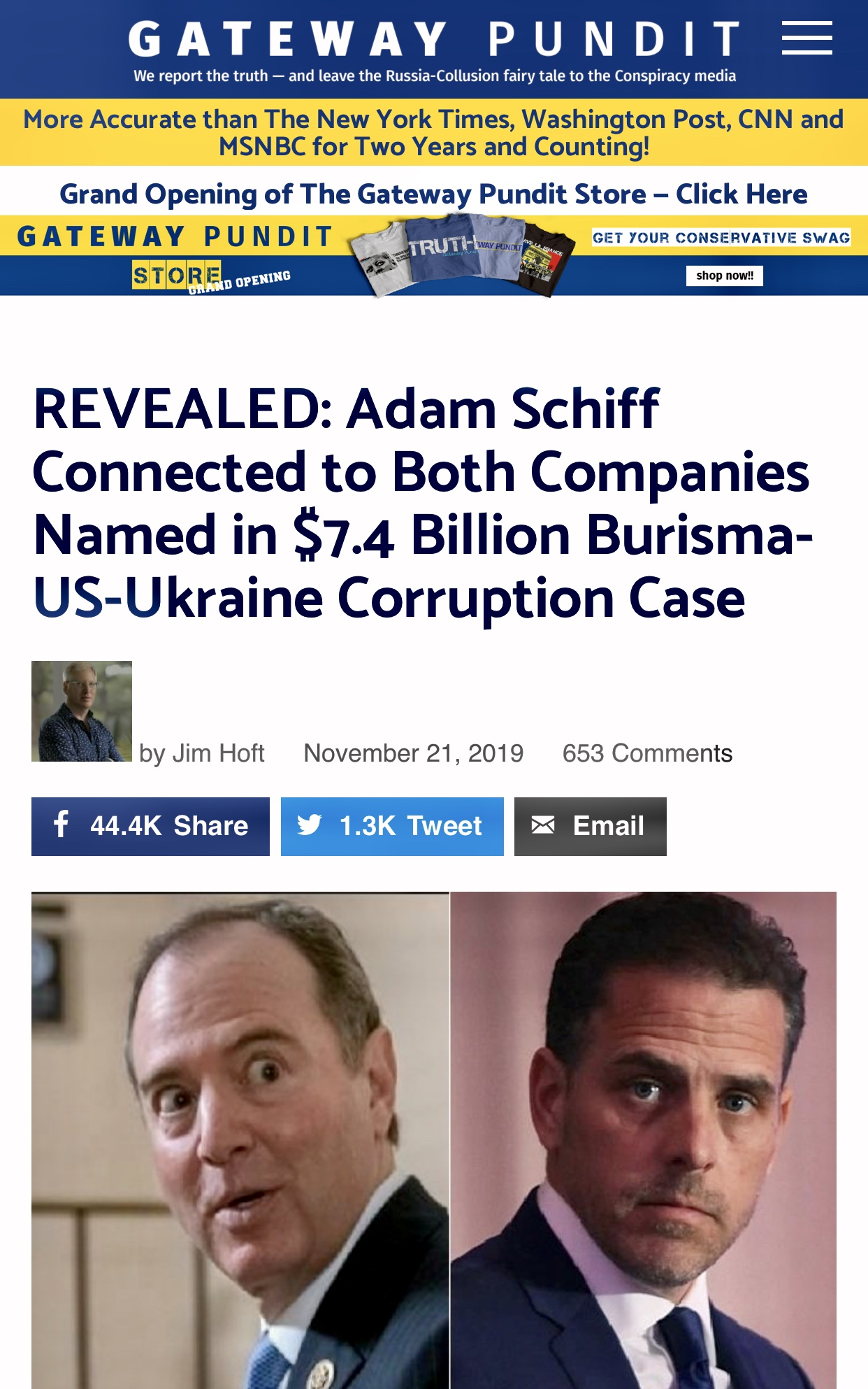 Schiff Connected to Companies Named in $7.4 Billion Burisma-US-Ukraine Corruption