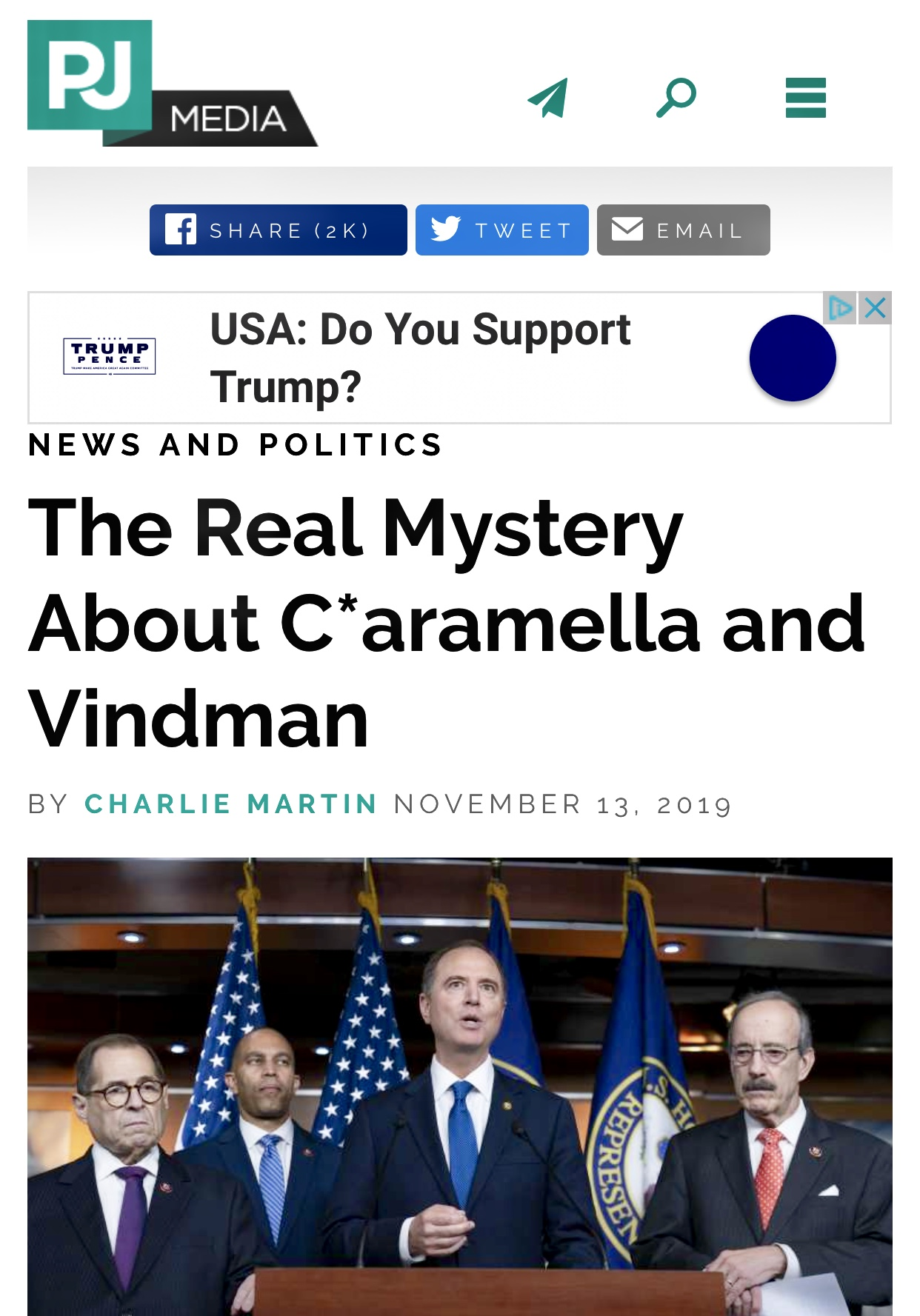 The Real Mystery About Eric Ciaramella Is How He Got Rehired to the CIA