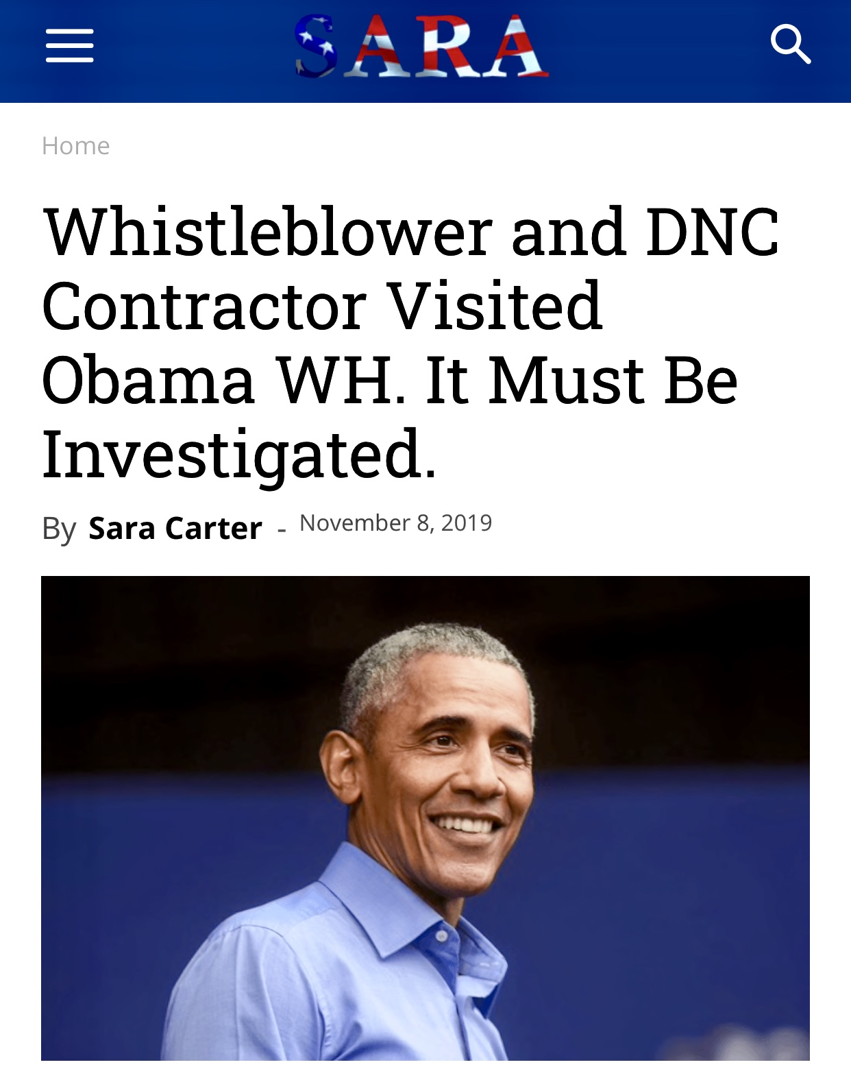 Whistleblower and DNC Contractor Visited Obama WH