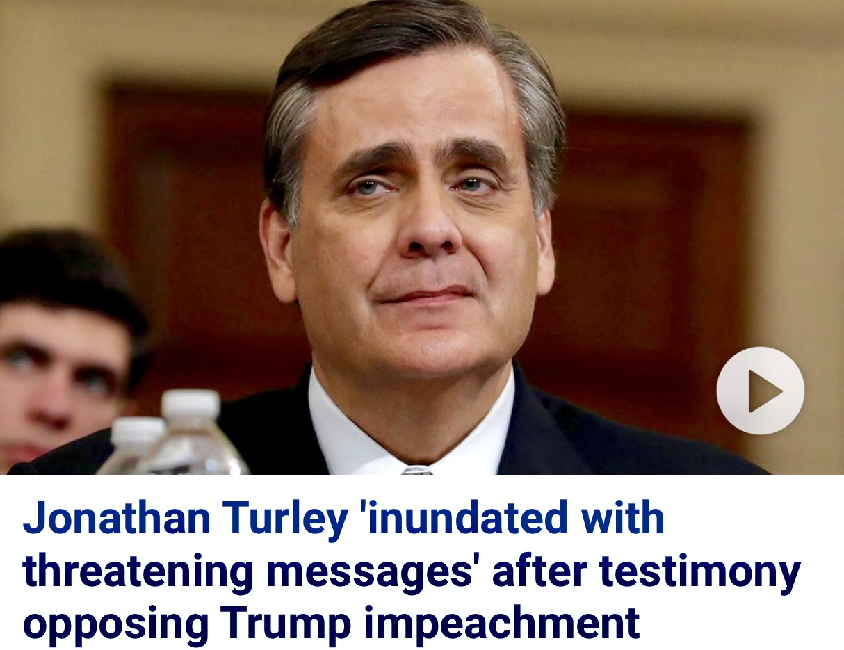 Professor Johnathan Turley Receiving Threats After Testifying