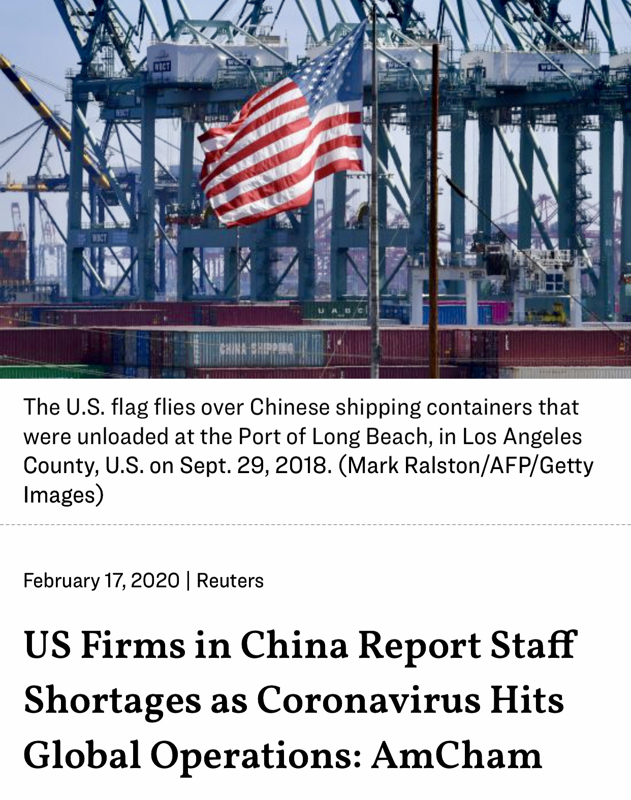 US Companies Accelerating Plans to Move Their Supply Chains Out of China