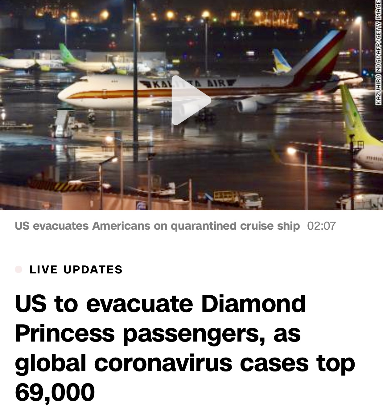 Coronavirus news and live updates: Global cases top 70,000