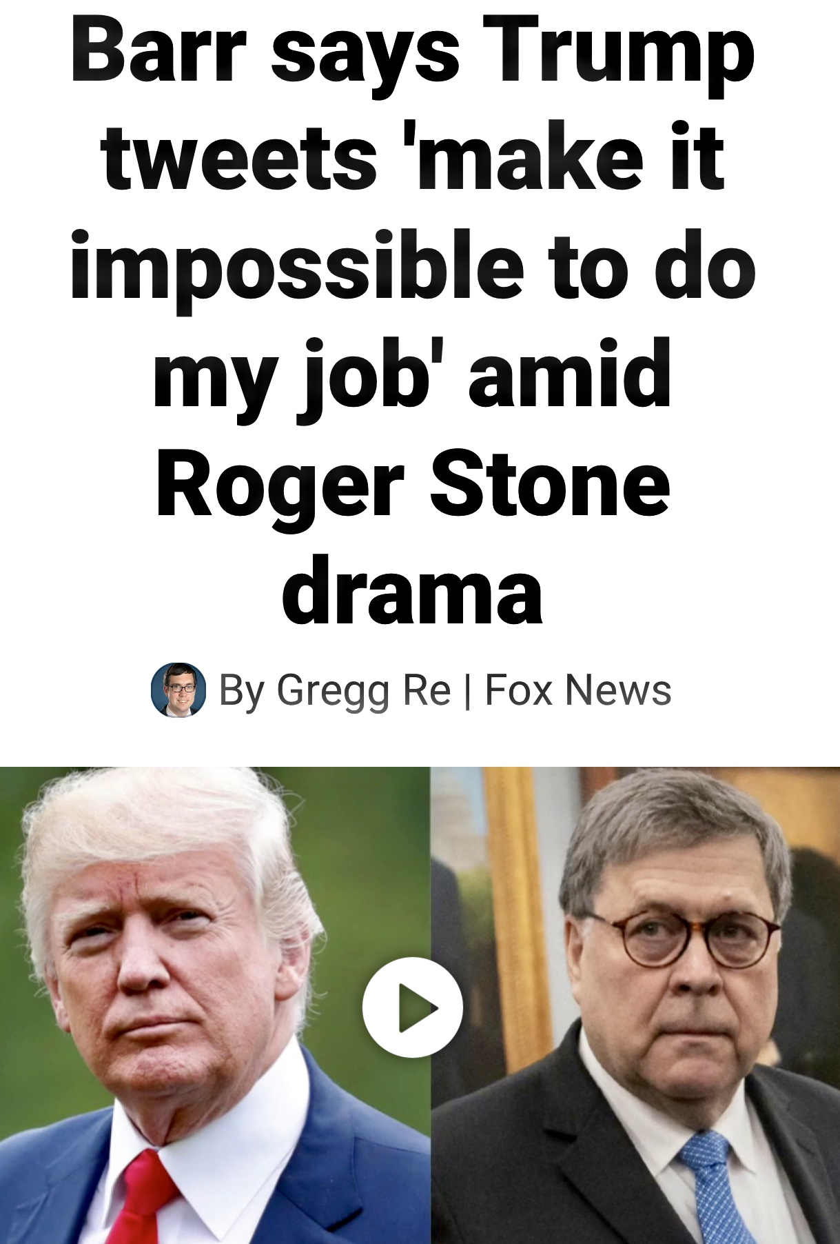 AG Barr Complaining about the President's Tweeing While Not Doing His Job