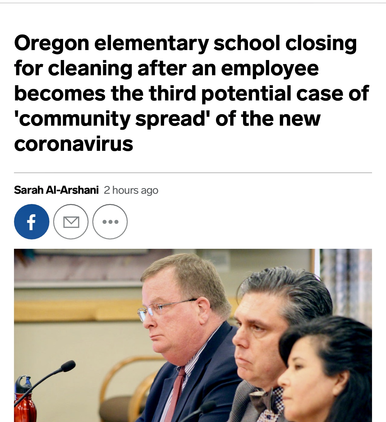 Coronavirus: Oregon elementary school closes, employee tests positive – Business Insider
