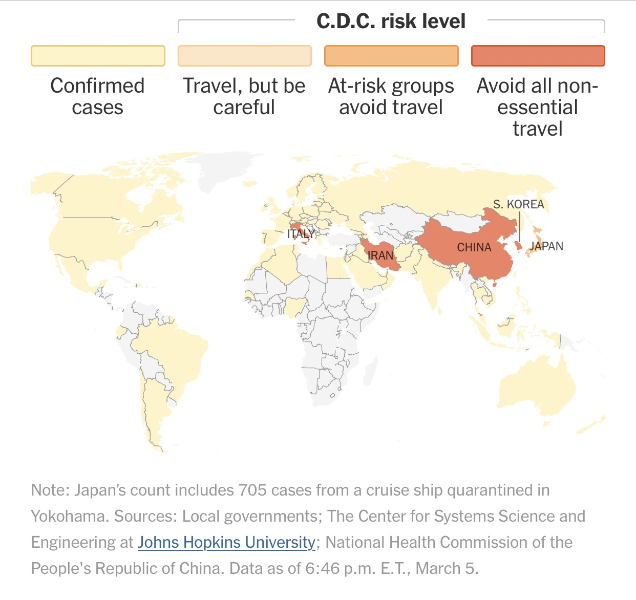 Coronavirus Map: Tracking the Spread of the Outbreak