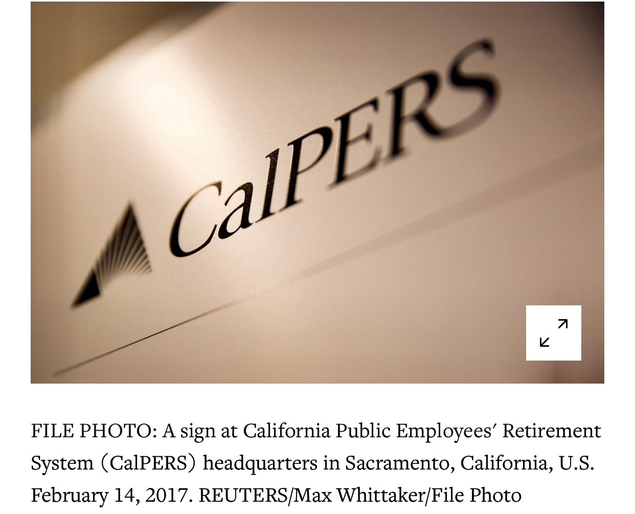 U.S. Lawmaker Calls For Ouster of CalPERS CIO Over China Ties