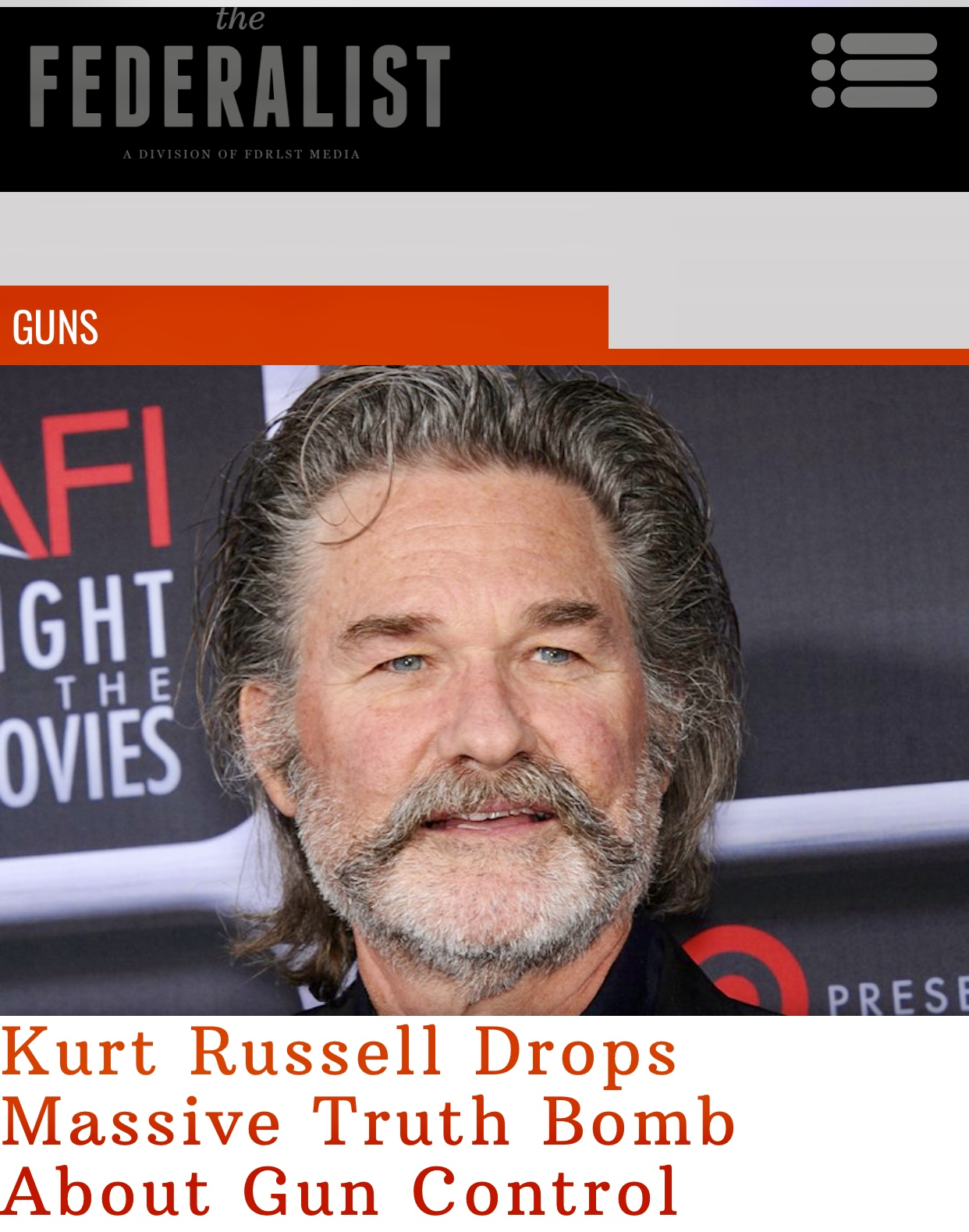 Kurt Russell Drops Massive Truth Bomb About Gun Control