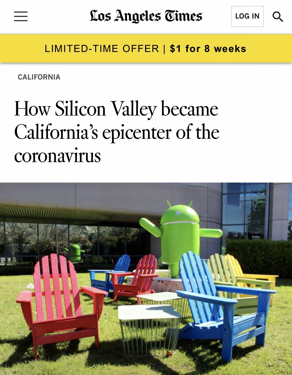 How Silicon Valley became California coronavirus epicenter