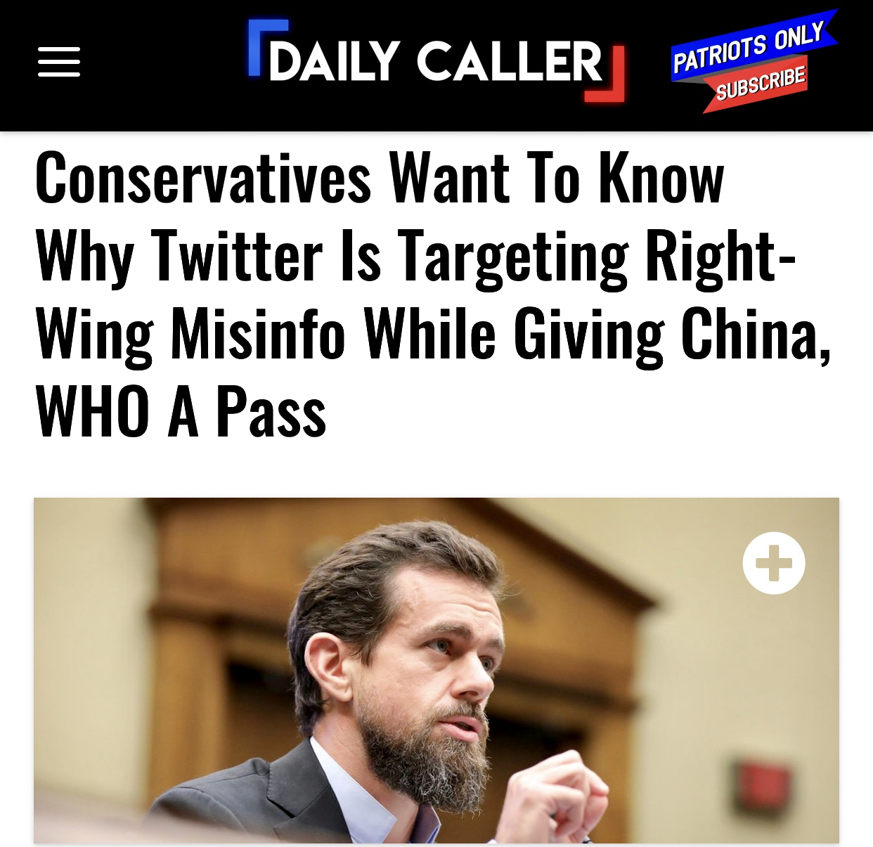 Conservatives Want To Know Why Twitter Is Targeting Right-Wing Info While Giving China, WHO A Pass