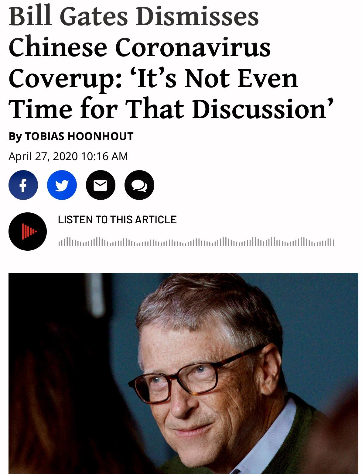 Bill Gates Dismisses Chinese Coronavirus Coverup Watch 2 Videos
