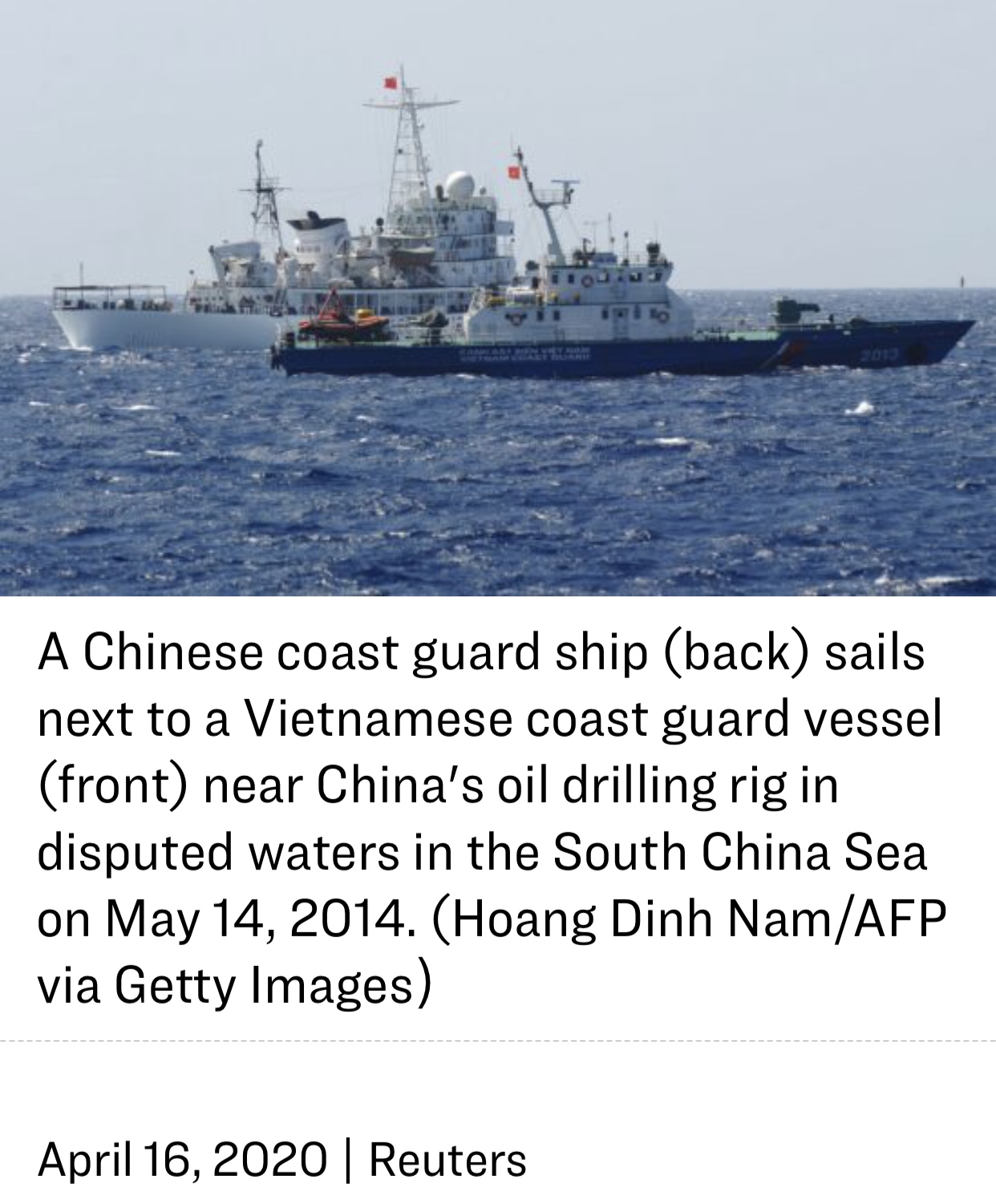 Chinese Ship Seen Moving South Near Malaysia Amid Rising South China Sea