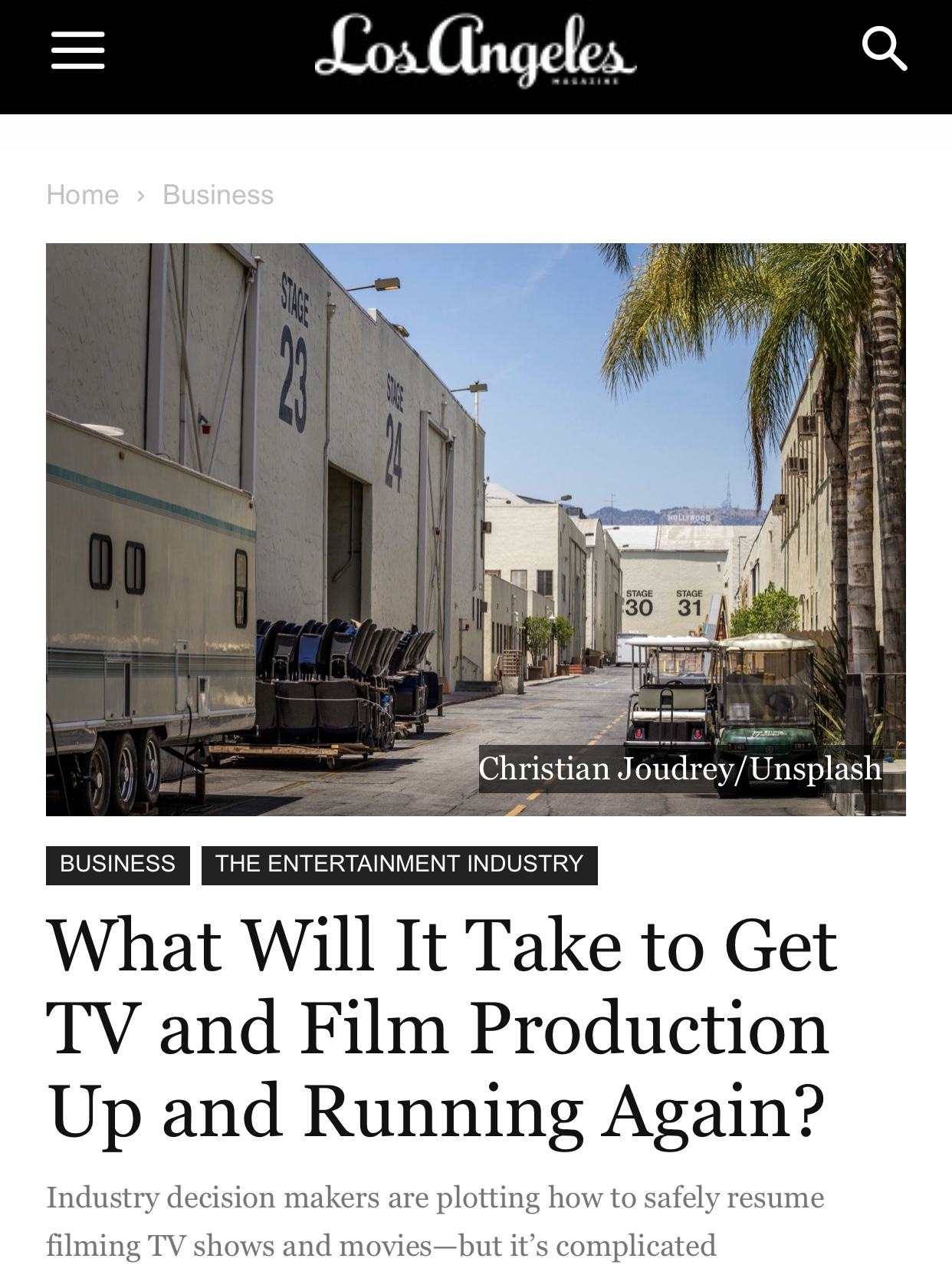 When Will Hollywood TV and Film Production Resume?