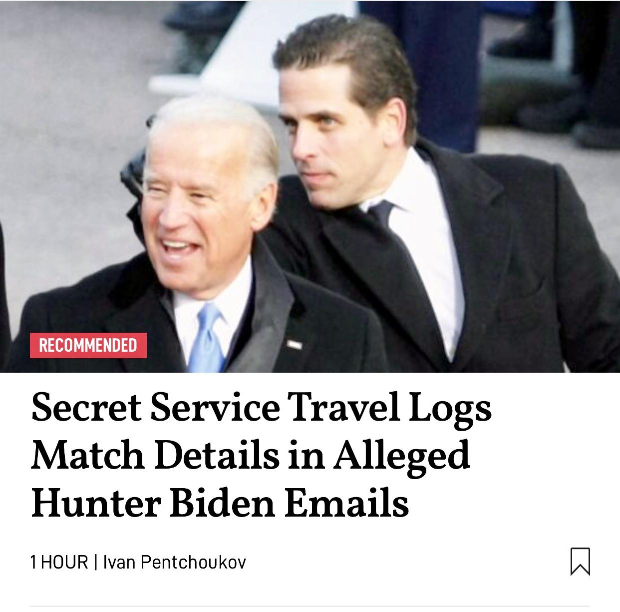 Secret Service Travel Logs Match Details in Alleged Hunter Biden Emails