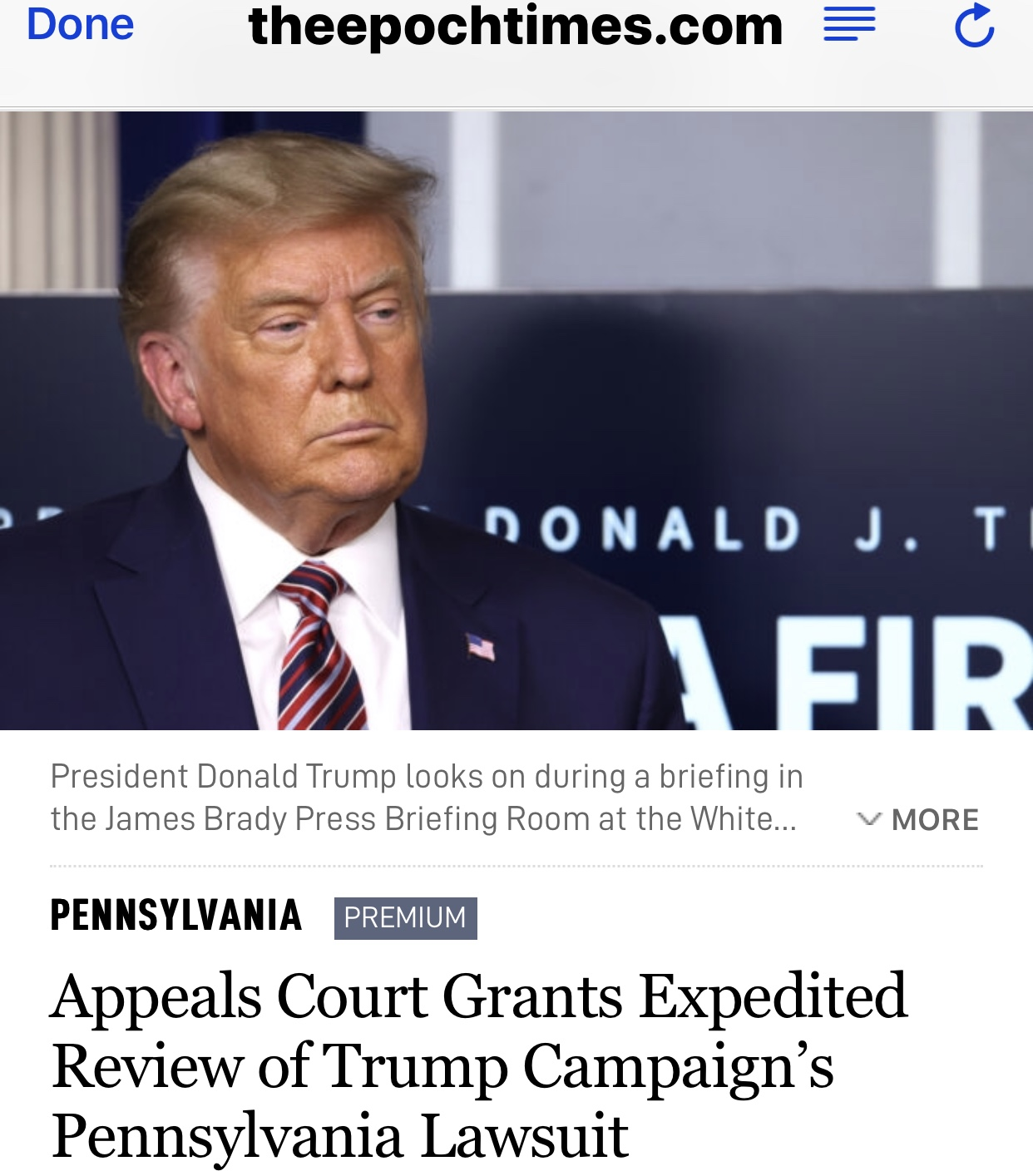Appeals Court Grants Expedited Review of Trump Campaign's Pennsylvania Lawsuit