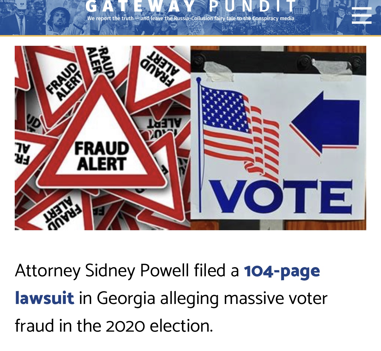 Georgia Lawsuit: Witness Testifies About Use of Different Paper For 'Counterfeit' Ballots, 'Watermark Solid Grey Instead of Transparent' – 100% For Joe Biden