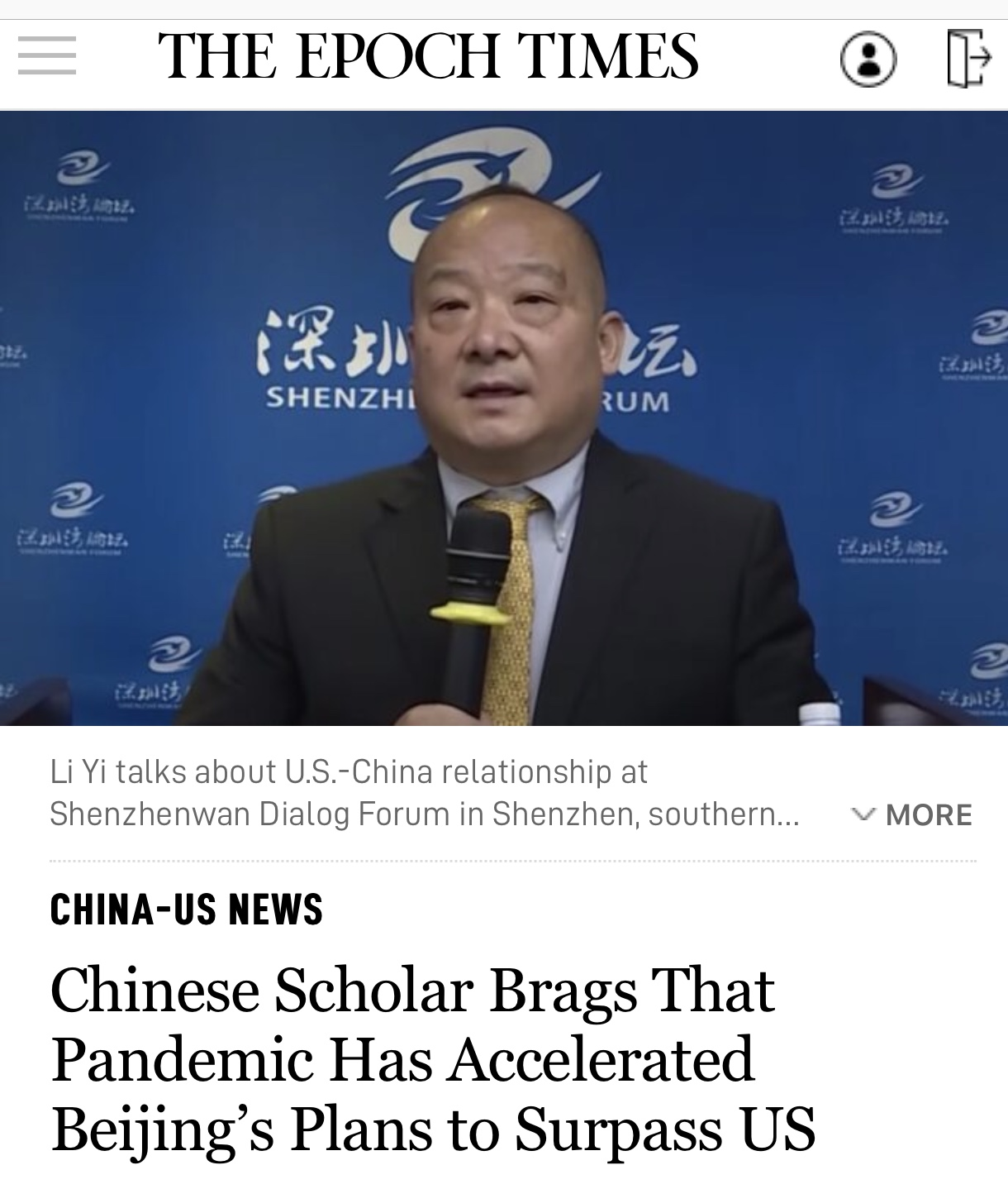 Breaking News Chinese Scholar Brags That Pandemic Has Accelerated Beijing's Plans to Surpass US
