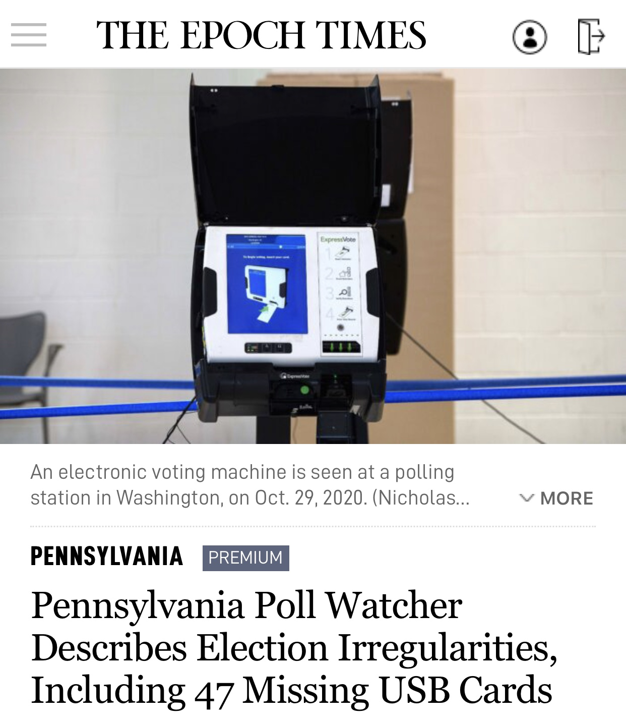 Pennsylvania Poll Watcher Describes Election Irregularities, Including 47 Missing USB Cards