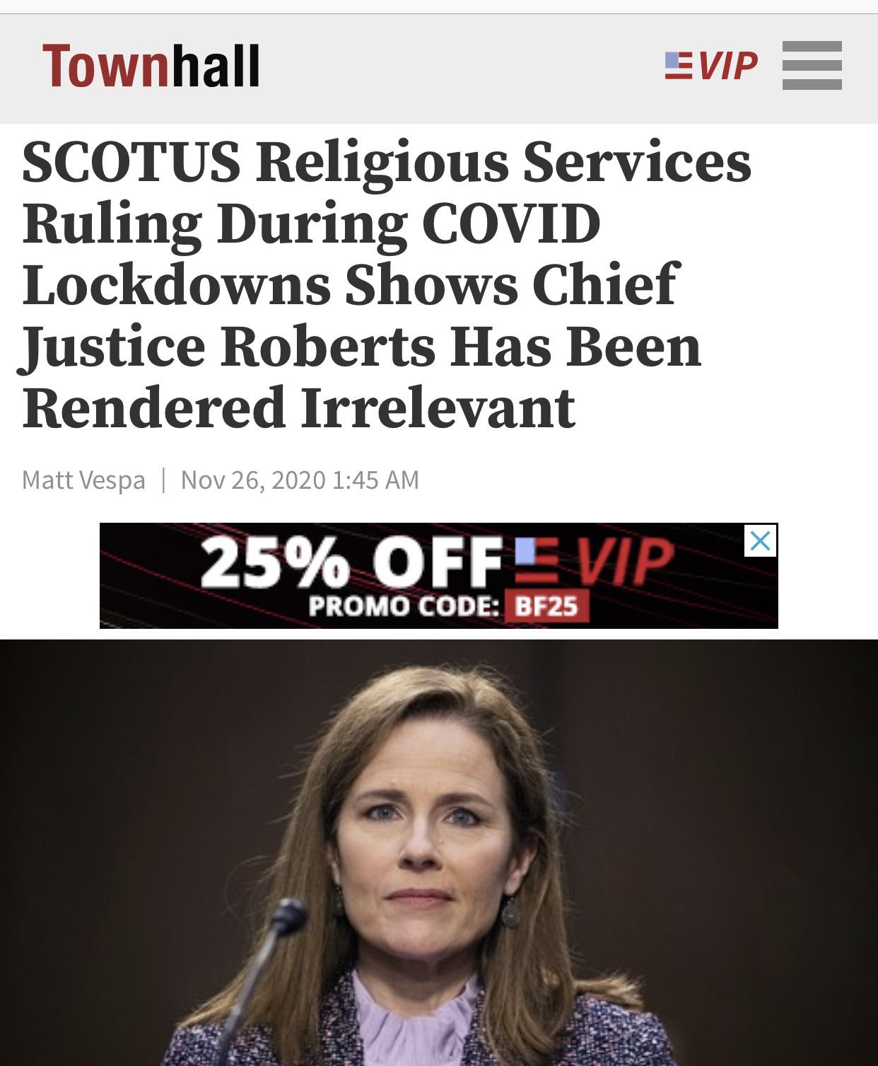 SCOTUS Religious Services Ruling During COVID Lockdowns Shows Chief Justice Roberts Has Been Rendered Irrelevant