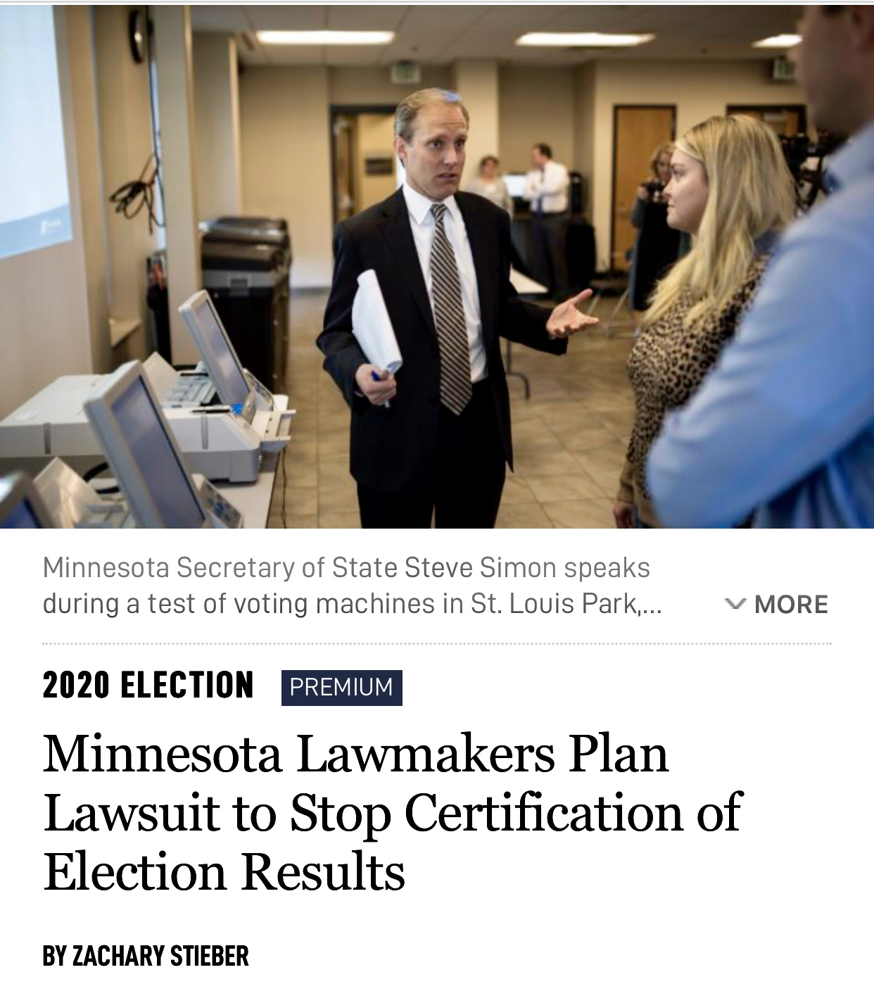 Minnesota Lawmakers Plan Lawsuit to Stop Certification of Election Results