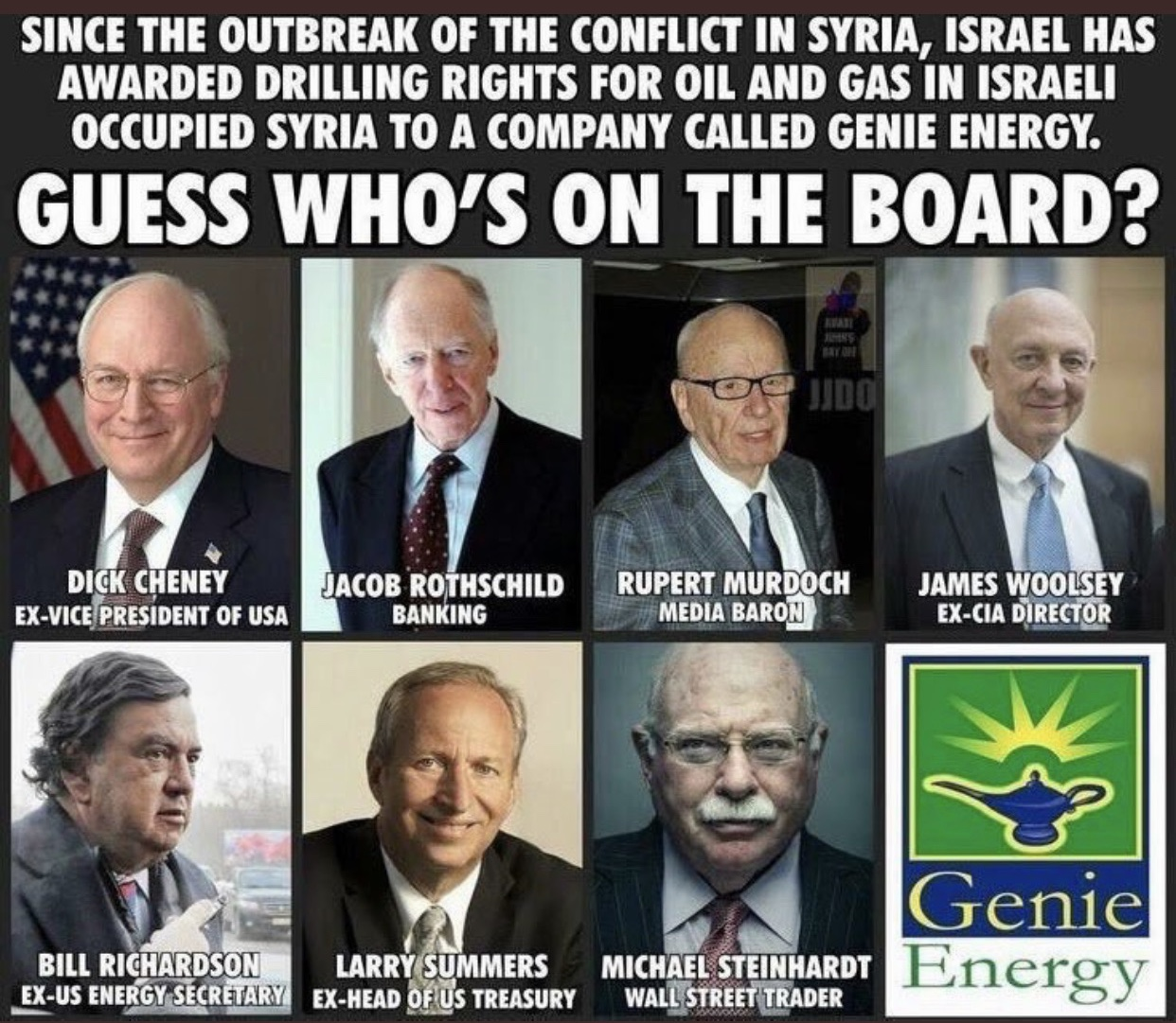 Genie Energy and Rupert Murdoch, Owner of FoxNews its Hidden Role in the War on Syria