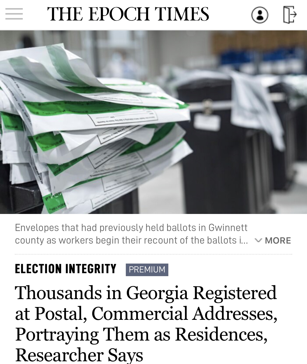 Thousands in Georgia Registered at Postal, Commercial Addresses, Portraying Them as Residences, Researcher Says
