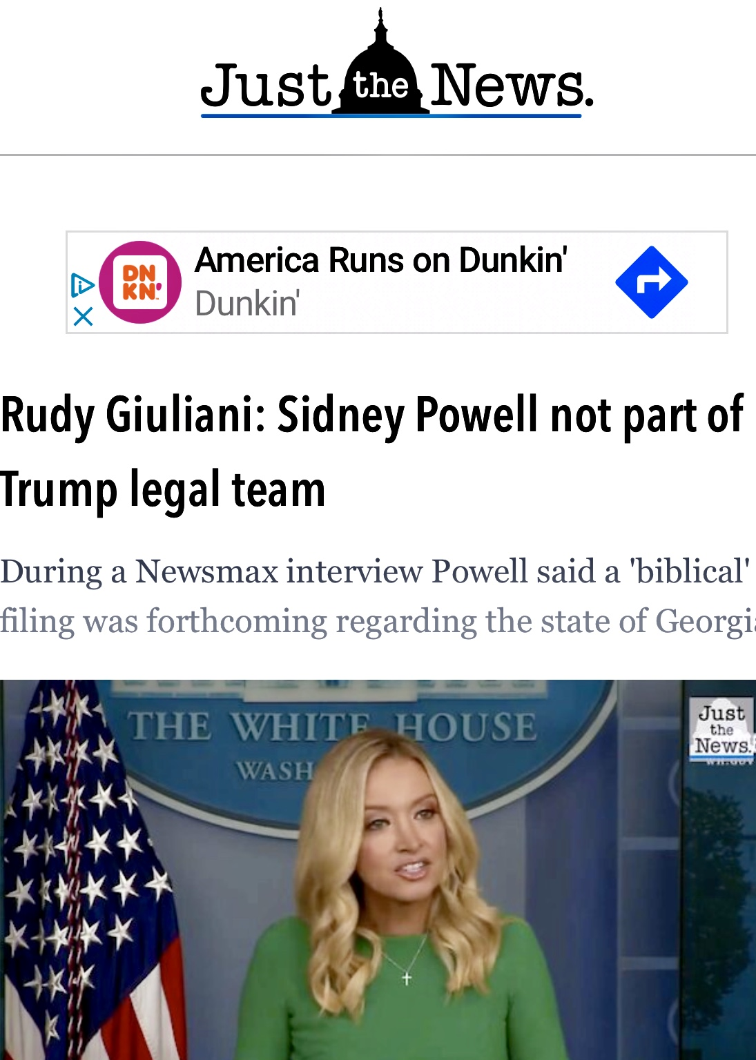 Rudy Giuliani: Sidney Powell not part of Trump legal team