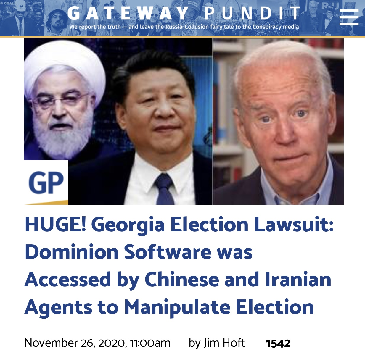 HUGE! Georgia Election Lawsuit: Dominion Software was Accessed by Chinese and Iranian Agents to Manipulate Election