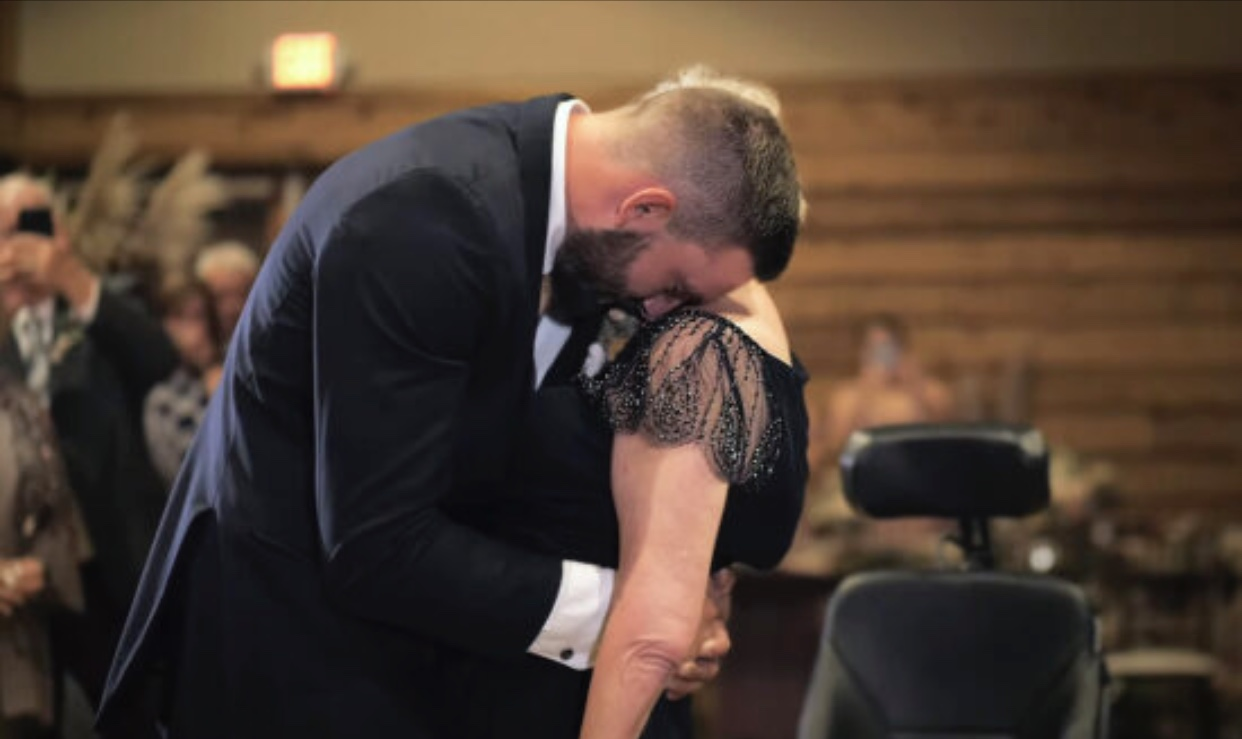Heartbreaking Video Shows Wedding Dance Between Son and Mother With ALS