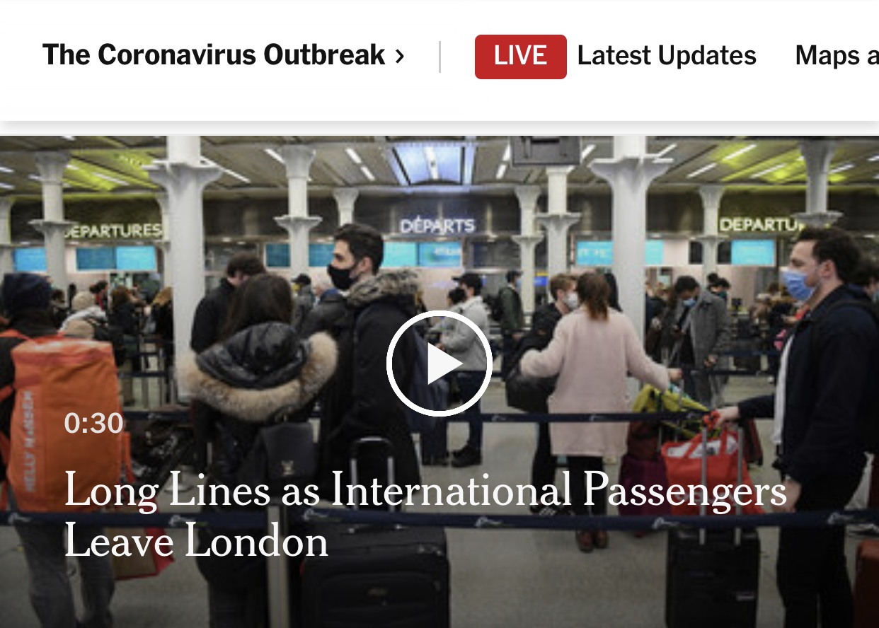 Breaking News More Countries Impose U.K. Travel Restrictions as Concerns Mount Over Virus Mutation