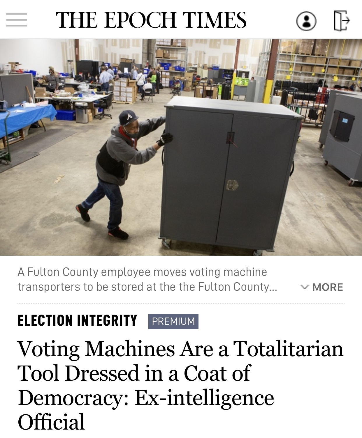 Voting Machines Are a Totalitarian Tool Dressed in a Coat of Democracy: Ex-intelligence Official
