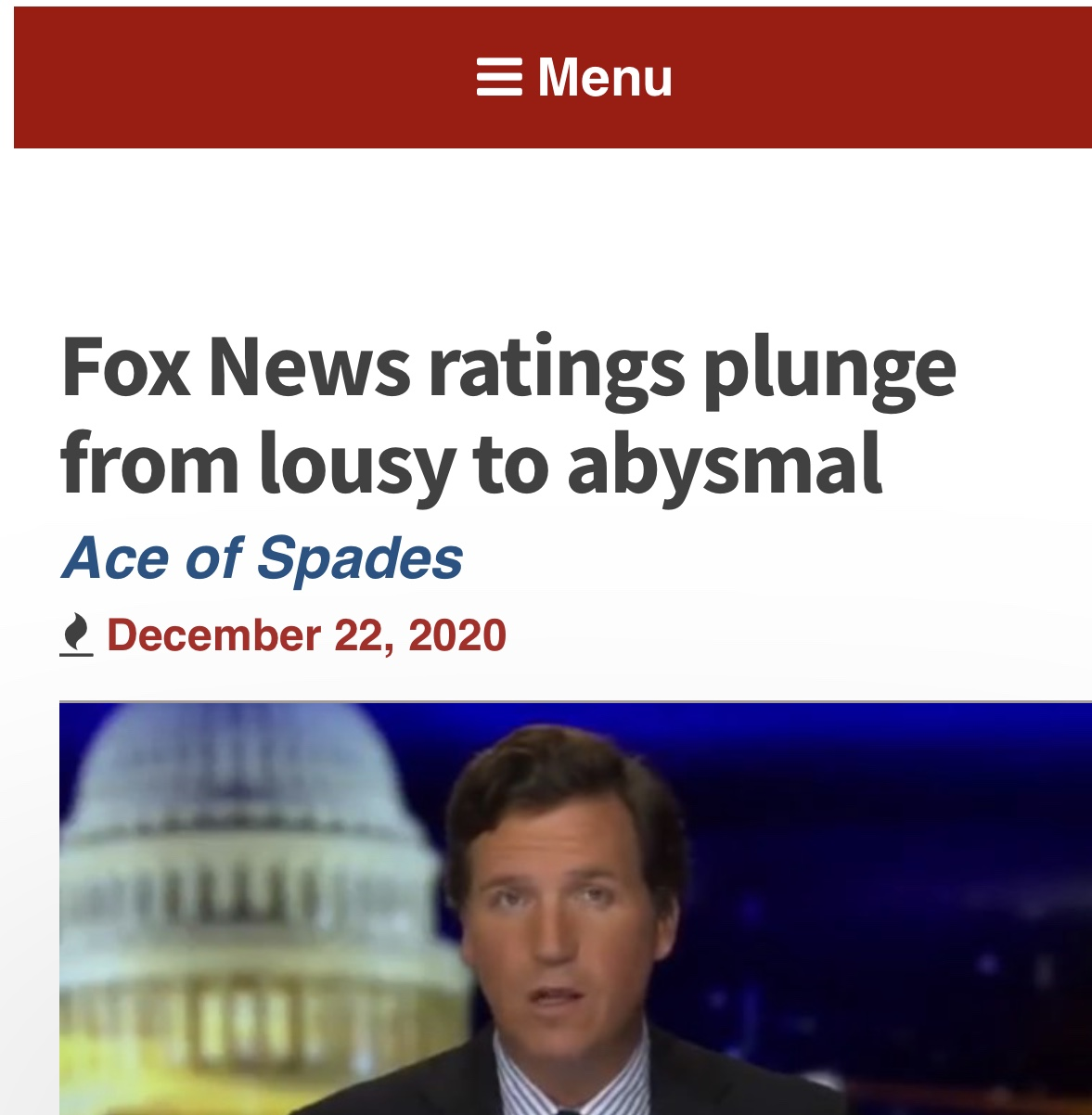 Fox News Ratings Plunge from Lousy to Abysmal 3 Articles