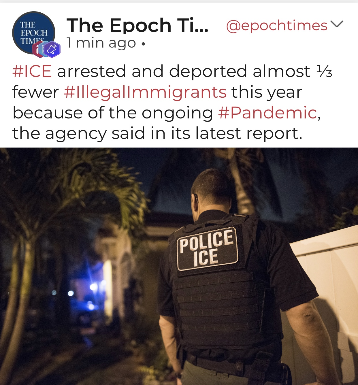 ICE Says Arrests, Deportations Fall in 2020 Due to COVID-19