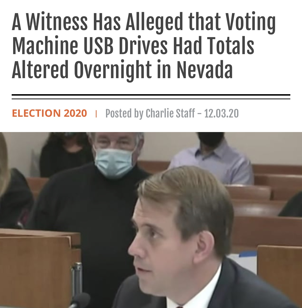 A Witness Has Alleged that Voting Machine USB Drives Had Totals Altered Overnight in Nevada
