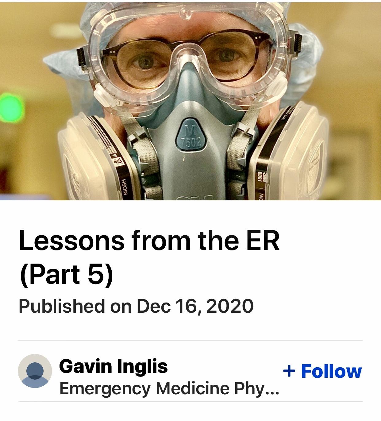Lessons from the ER – Coronavirus Update 5