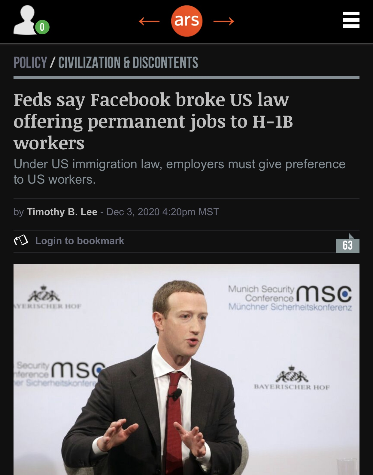 Breaking News Feds say Facebook broke US law offering permanent jobs to H-1B workers