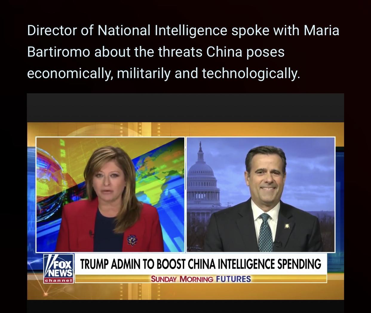 DNI John Ratcliffe on China Threats