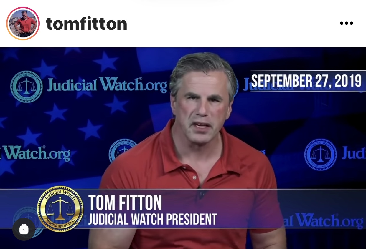 Tom Fitton from Judicial Watch