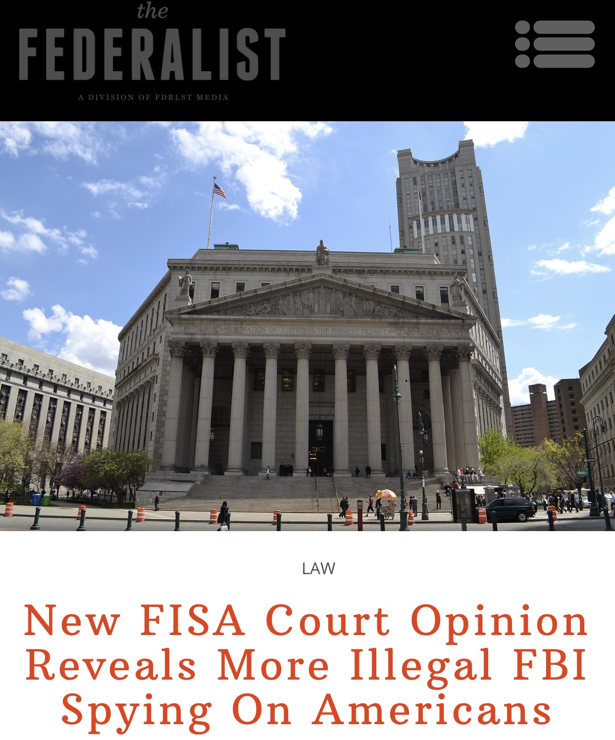 Breaking News New FISA Court Opinion Reveals More Illegal FBI Spying On Americans