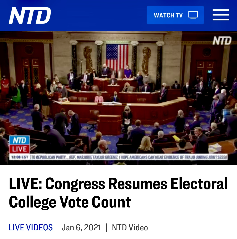 LIVE: Congress Resumes Electoral College Vote Count